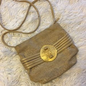 Vintage Sharif crossbody bag with metal buckle